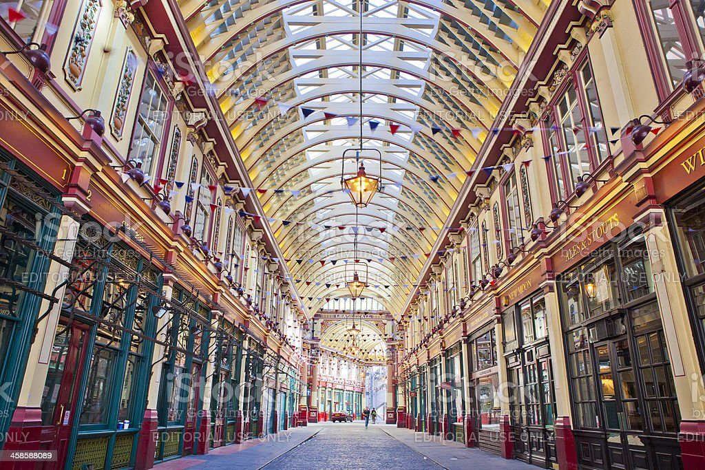 Leadenhall Market In London, England stock photo