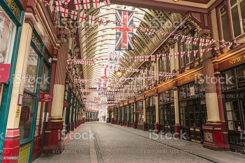 Leadenhall Market in london stock photo