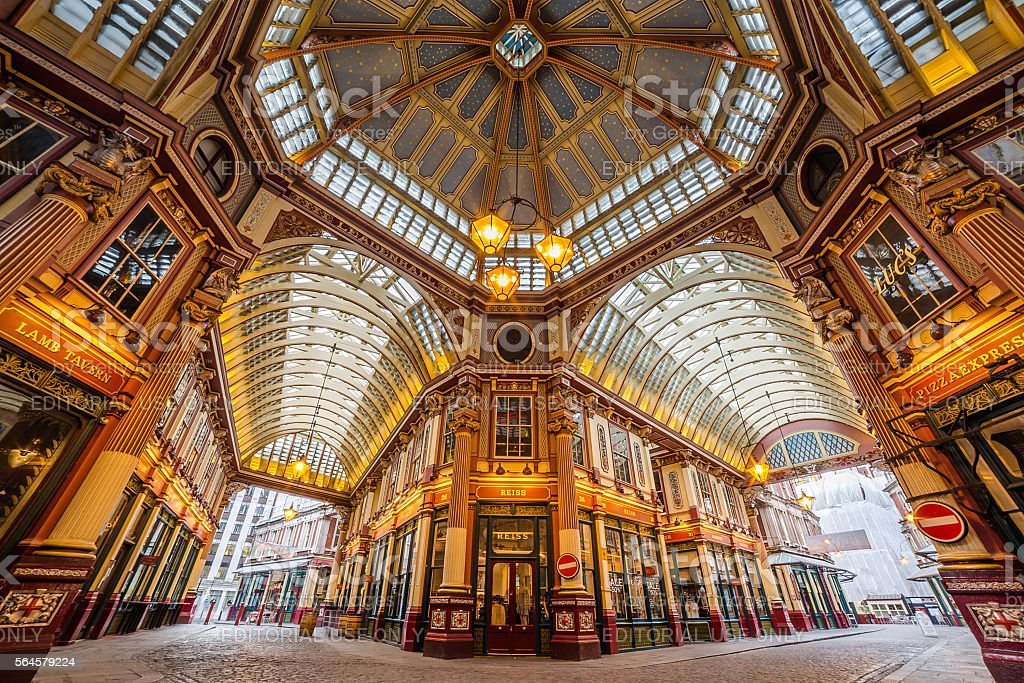 Leadenhall Market in the City of London stock photo