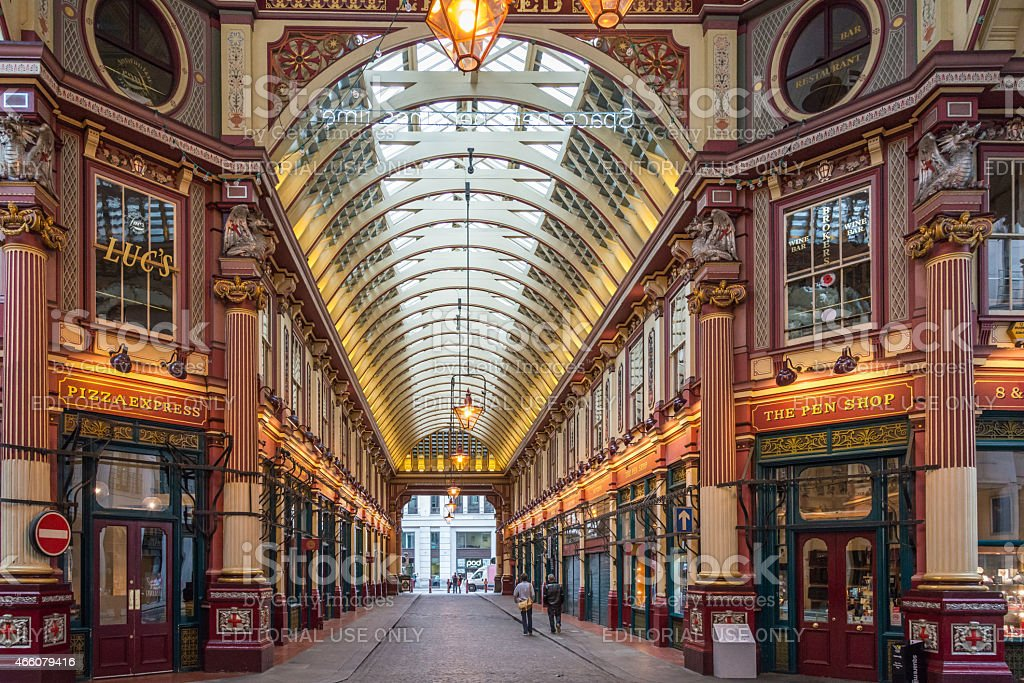 Leadenhall Market, London stock photo