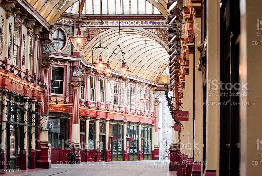 Leadenhall Market - London stock photo