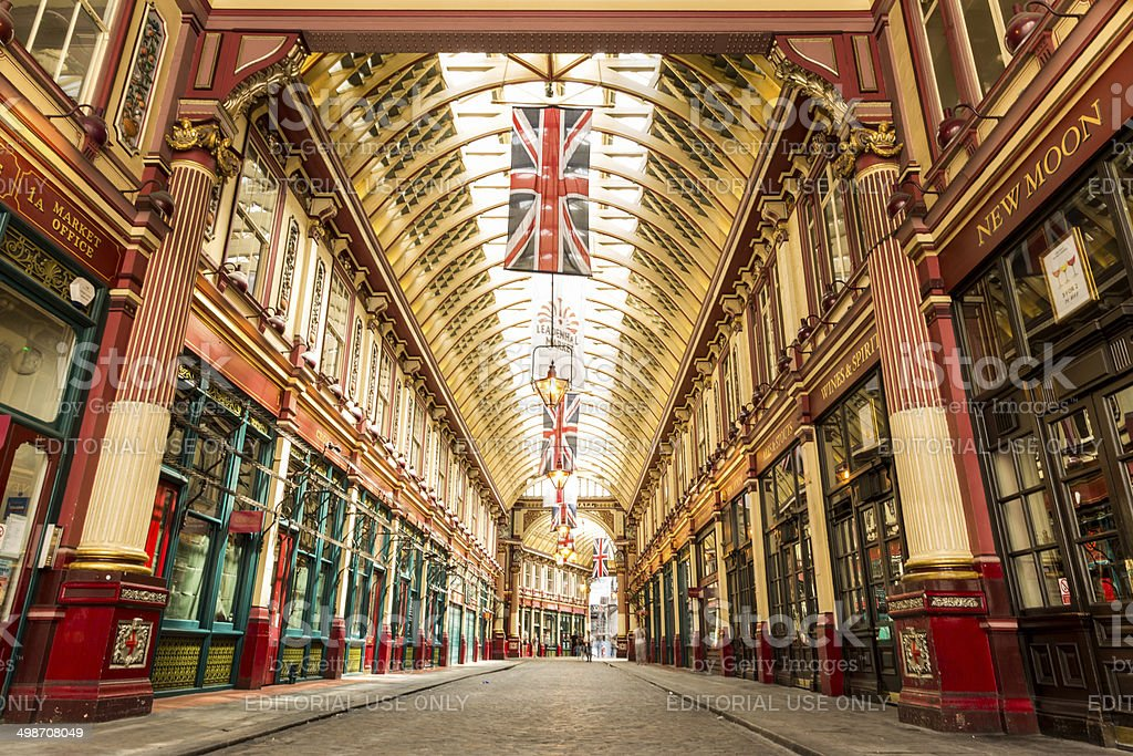 Leadenhall Market, London, UK stock photo