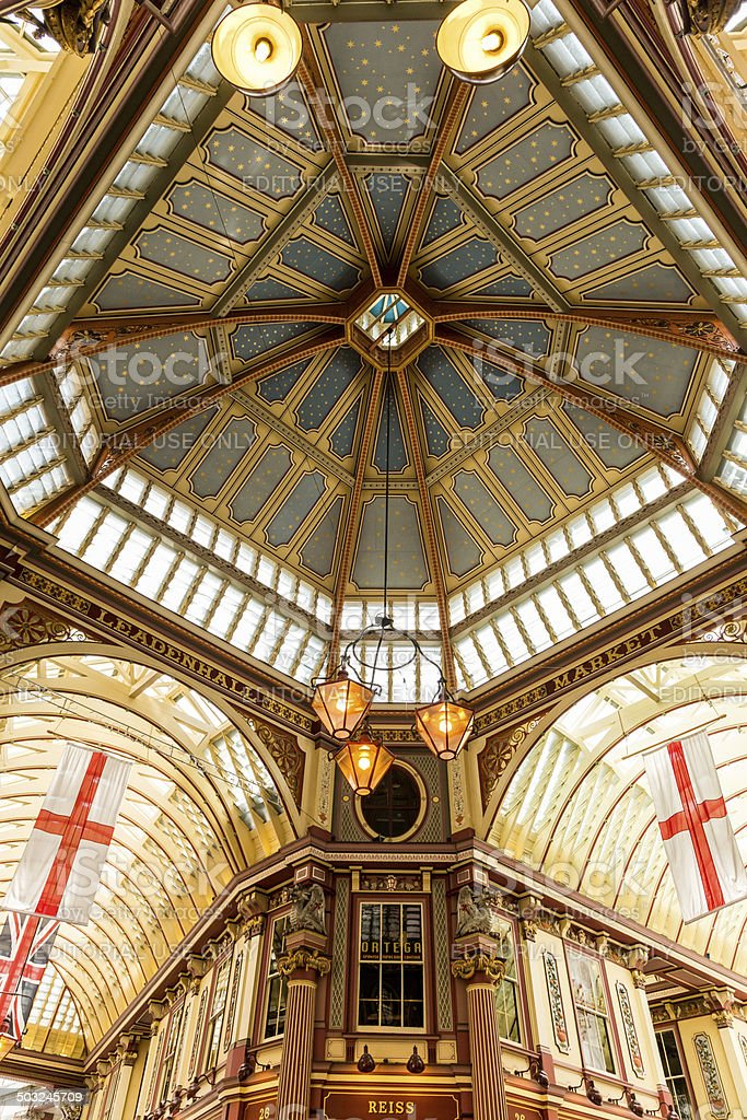 Leadenhall Market stock photo