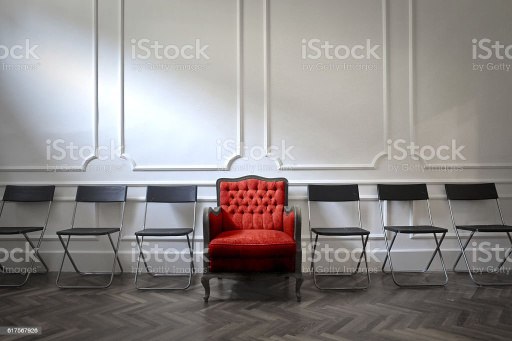 Leader and followers stock photo