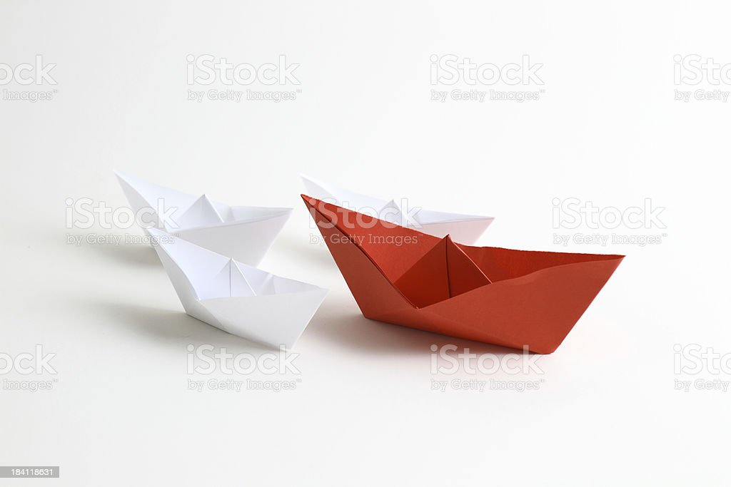 Leader boat stock photo