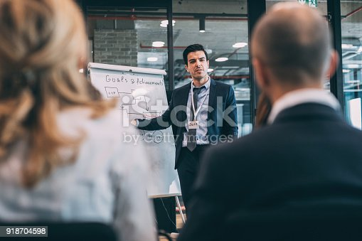 603992132 istock photo Leader briefing business people 918704598