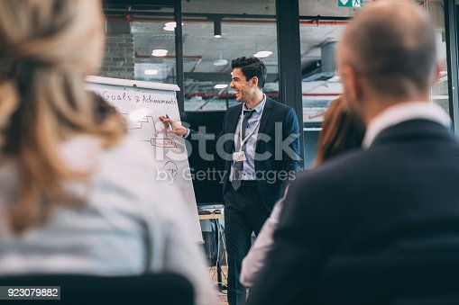 603992132 istock photo Leader briefing business people 923079882
