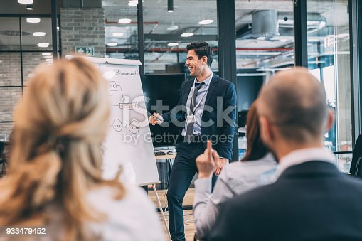 603992132 istock photo Leader briefing business people 933479452