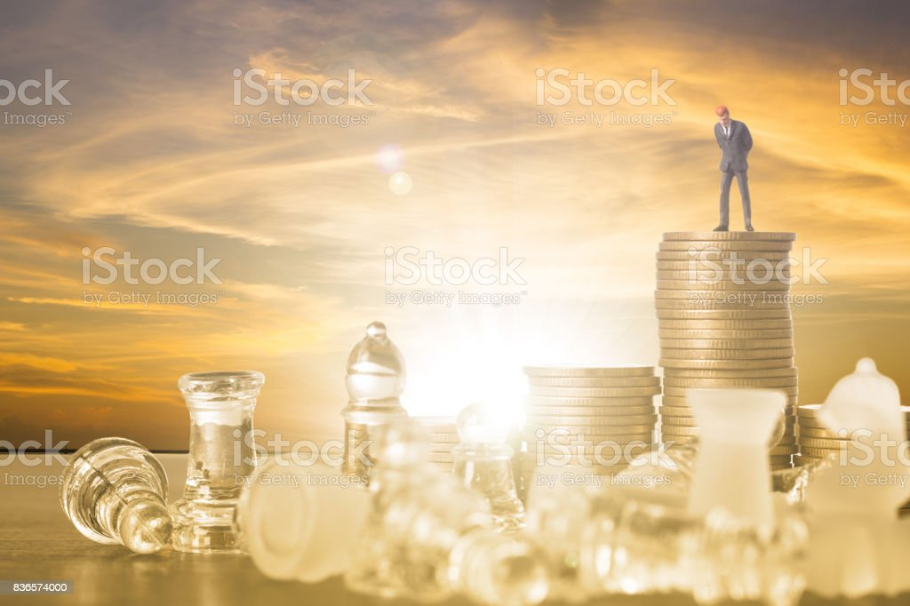 Leader business chess concept team stock photo