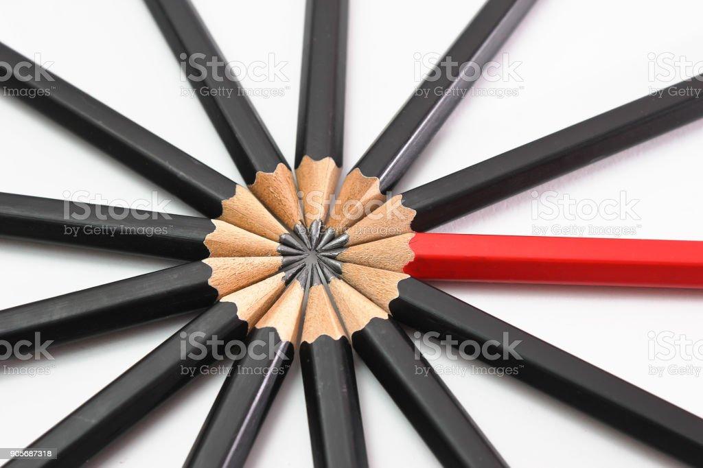 https www istockphoto com photo leader concept of pencils gm905687318 249724121