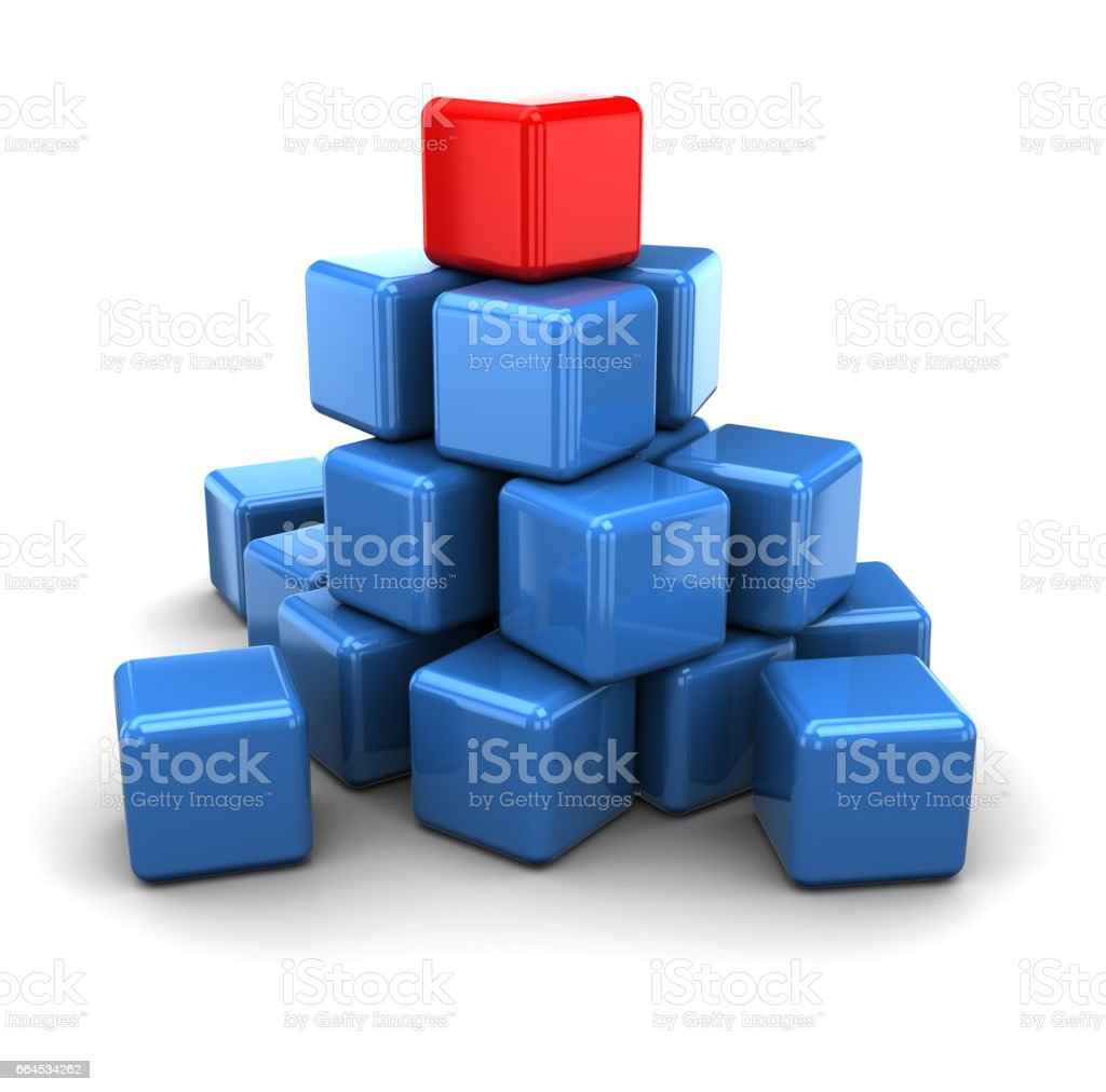 leader cube royalty-free stock photo