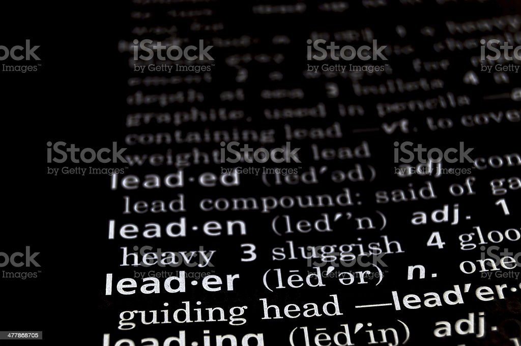 Leader Defined on Black royalty-free stock photo