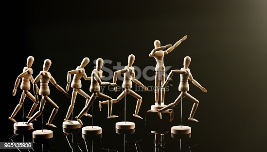 Leadership or teamwork concept.