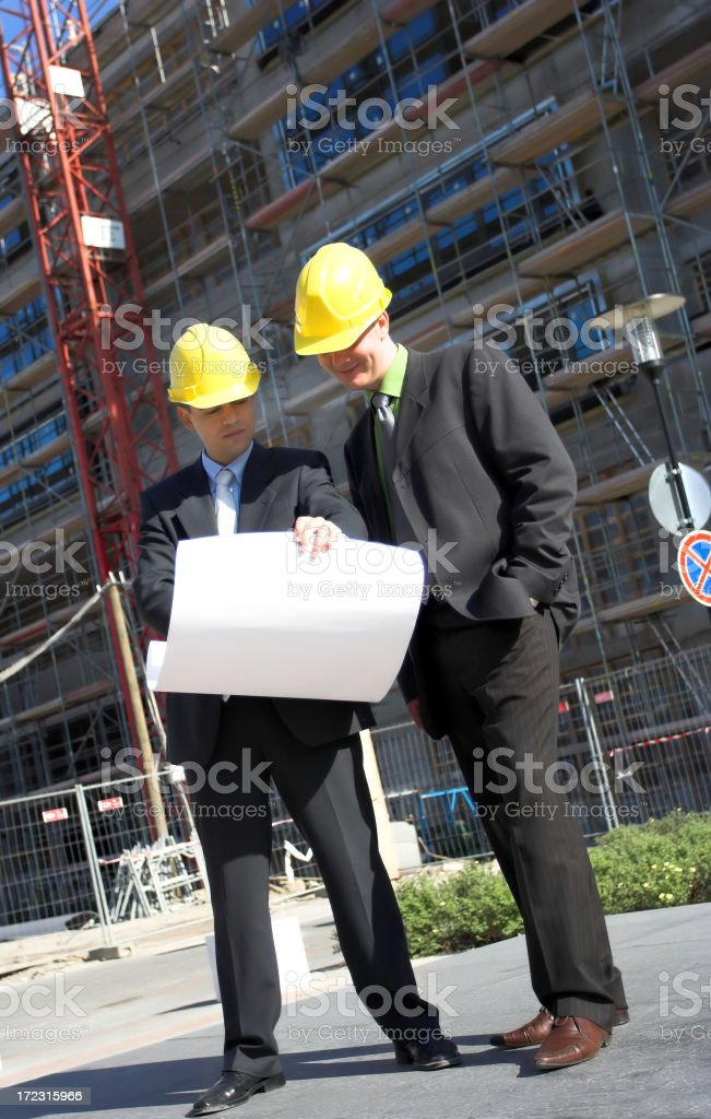 Leader engineers royalty-free stock photo