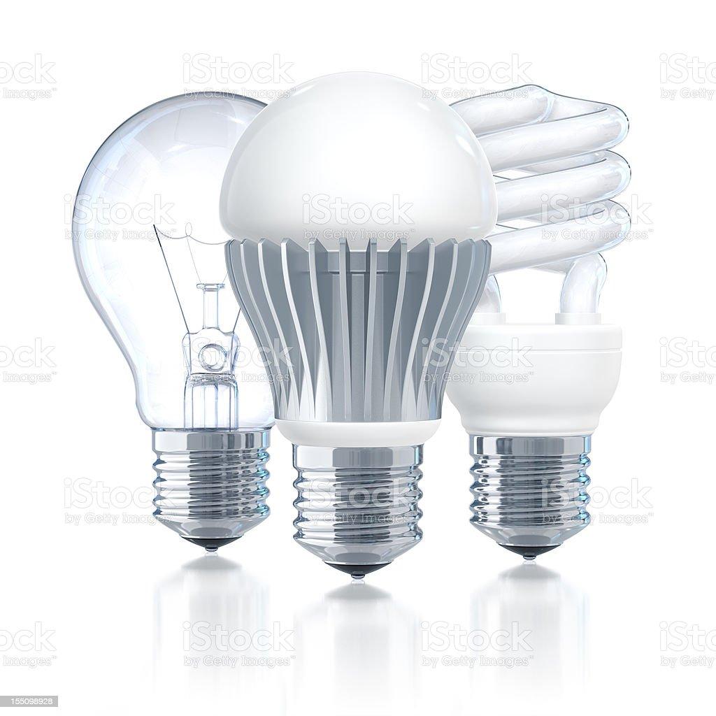 LED Leader Of Light Bulbs stock photo