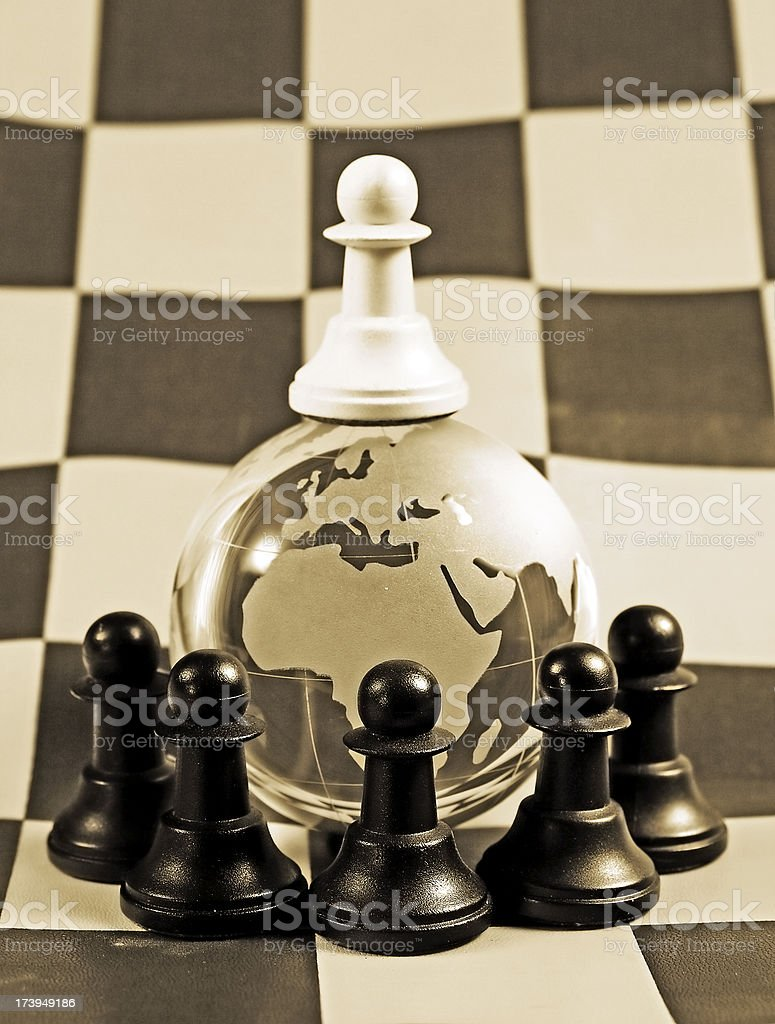 Leader of the world royalty-free stock photo