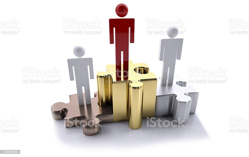 leader podium royalty-free stock photo
