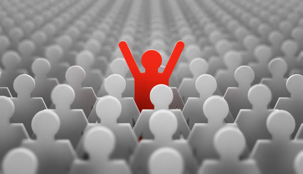 leader red man - single object stock pictures, royalty-free photos & images