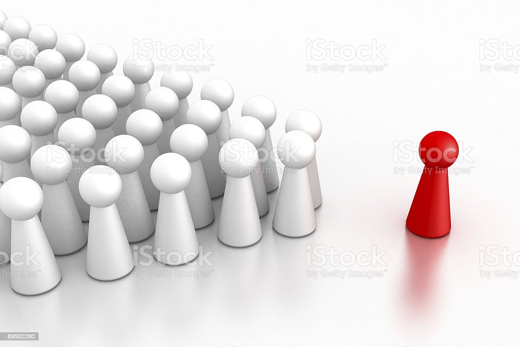Leader with her/his team royalty-free stock photo