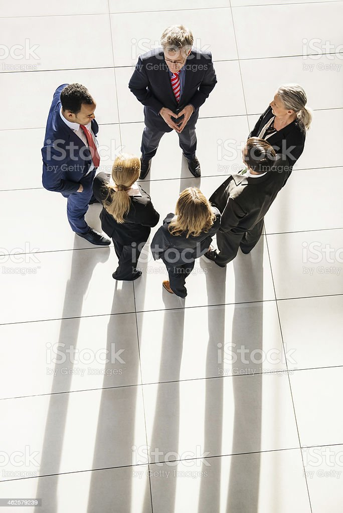 Leader With His Team royalty-free stock photo