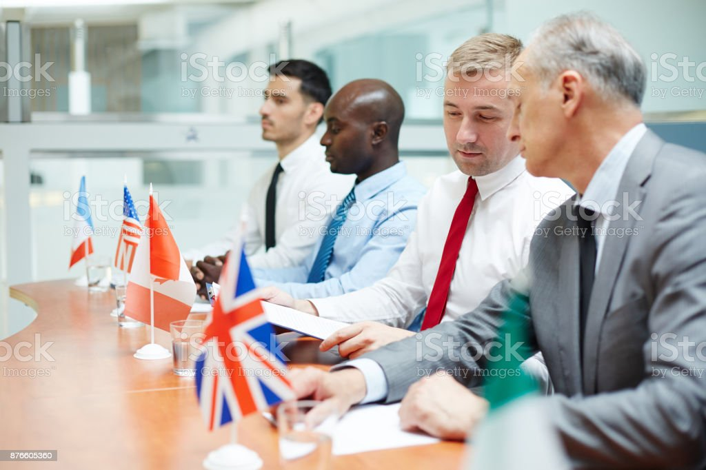 Leaders consulting stock photo