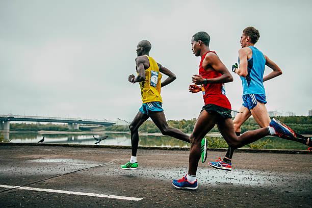 Líderes de la maratón de funcionamiento - foto de stock