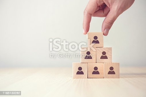 istock Leadership and corporate hierarchy concept, A complete team that consists of icon many people. copy space. 1165130282