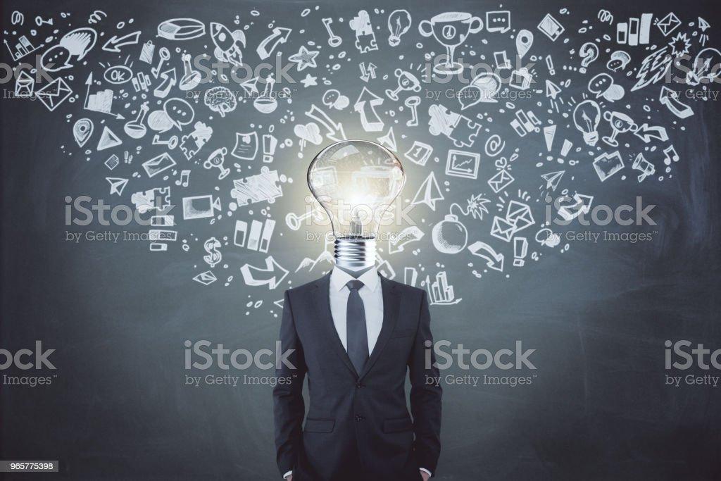 Leiderschap en innovatie concept - Royalty-free Bedrijfsleven Stockfoto