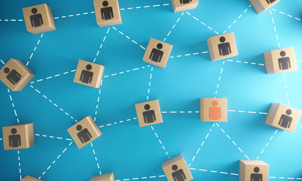 Leadership and Social Network stock photo