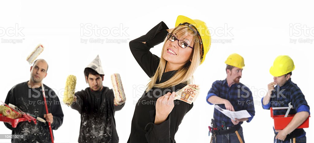 Leadership and team of workers royalty-free stock photo