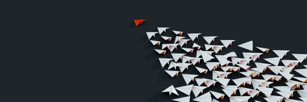 Leadership and victory concepts, 3d rendering illustration stock photo