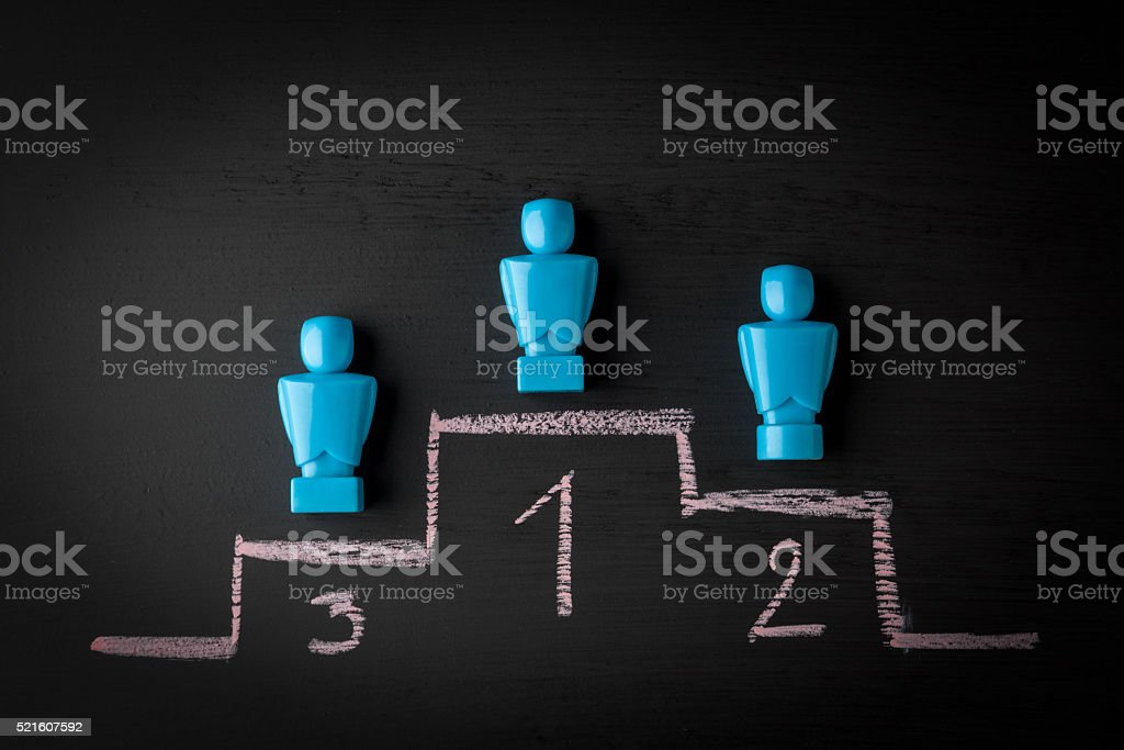 leadership and winner concept stock photo