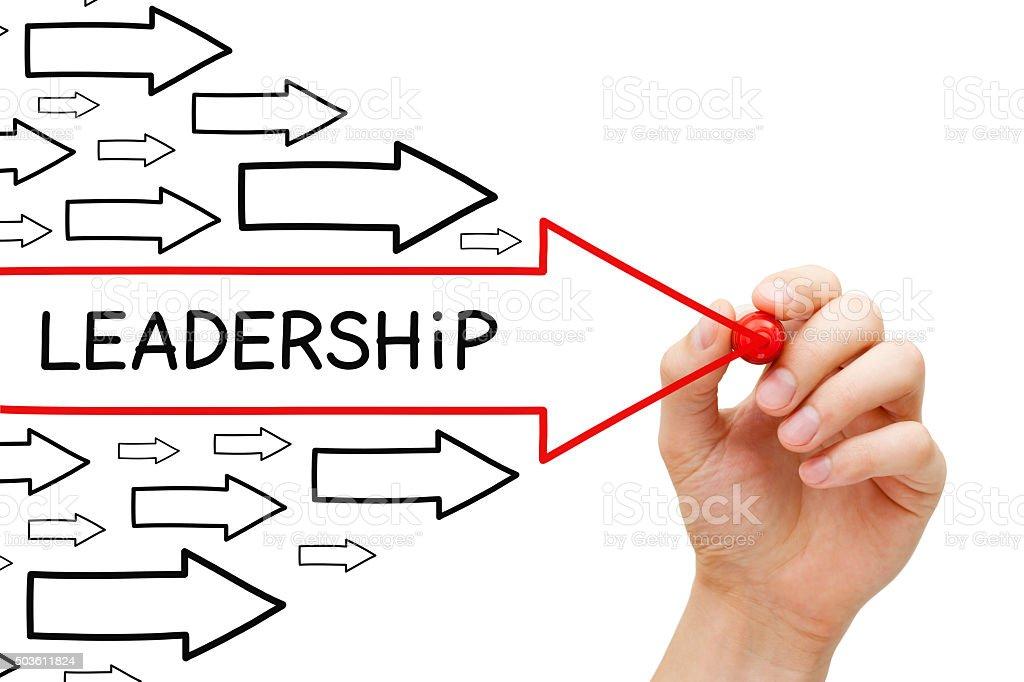 Leadership Arrows Concept stock photo