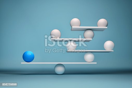 istock Leadership balancing the team 858259898
