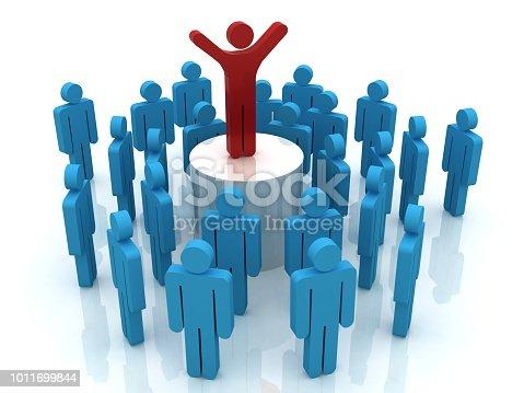 862670984 istock photo Leadership competitive advantage people 1011699844