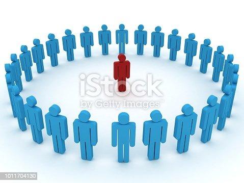 862670984 istock photo Leadership competitive advantage people 1011704130