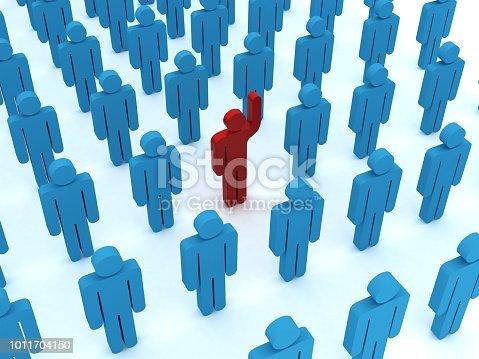 862670984 istock photo Leadership competitive advantage people 1011704150