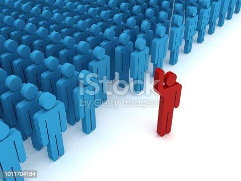 862670984 istock photo Leadership competitive advantage people 1011704184