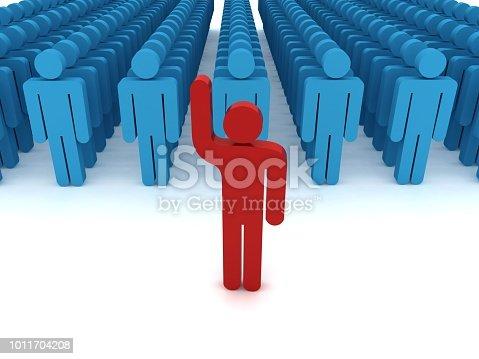 862670984 istock photo Leadership competitive advantage people 1011704208