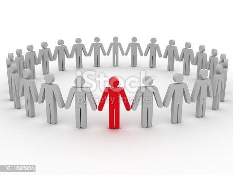 862670984 istock photo Leadership competitive advantage people 1011892934