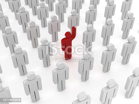 862670984 istock photo Leadership competitive advantage people 1011892978