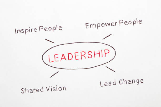 leadership concept diagram - leadership stock pictures, royalty-free photos & images