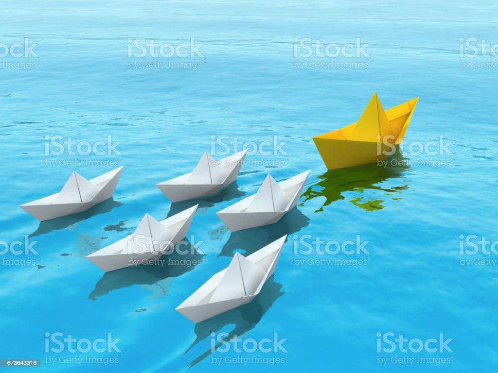 Leadership concept illustration. stock photo
