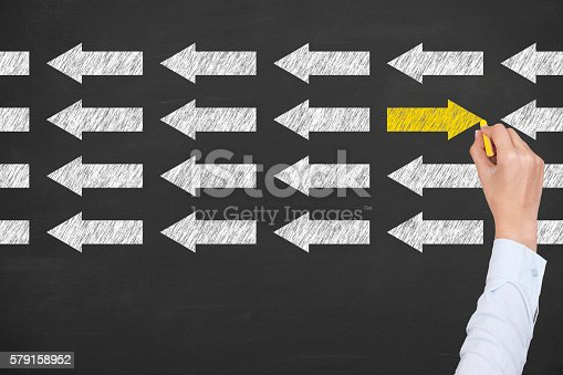 istock Leadership Concept on Blackboard Background 579158952