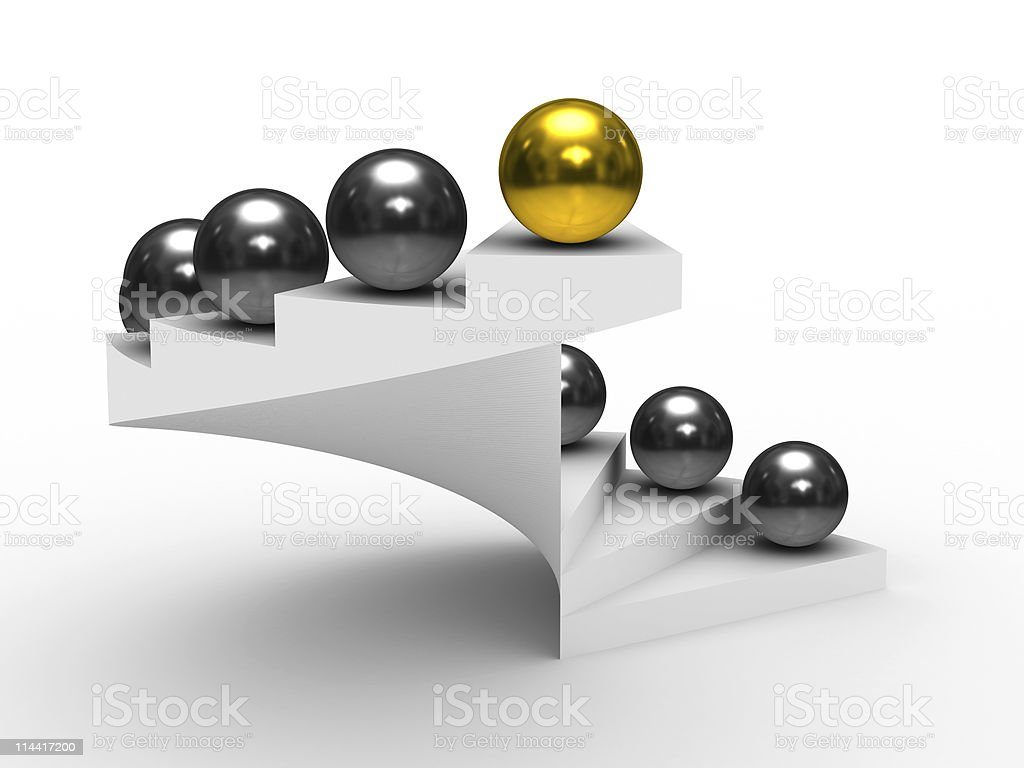 leadership concept on white background. Isolated 3D image royalty-free stock photo