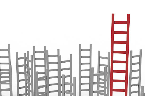 leadership concept - ladder of success stock photos and pictures