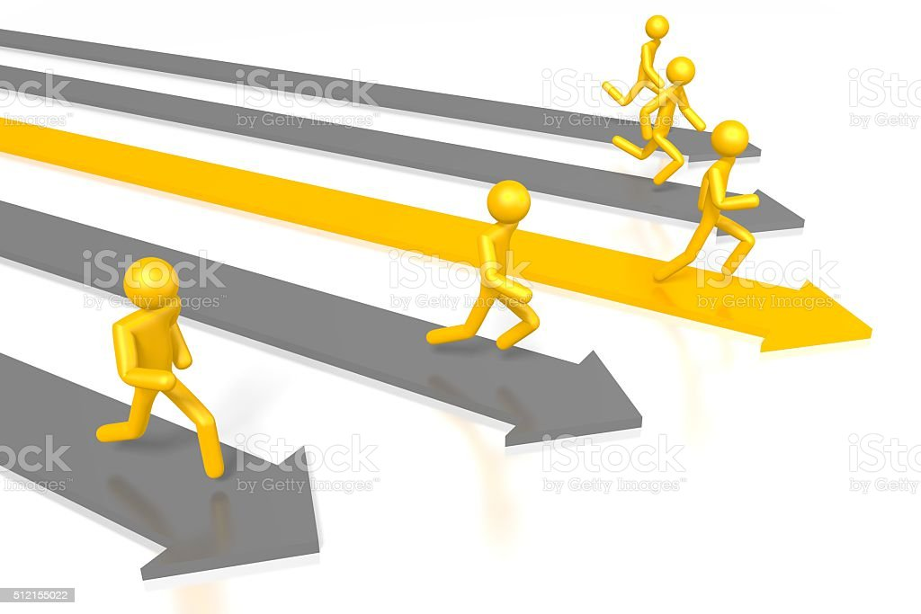 3D leadership concept stock photo