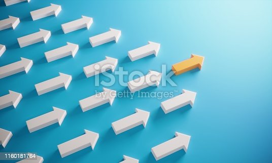 istock Leadership Concept With Arrows 1160181764