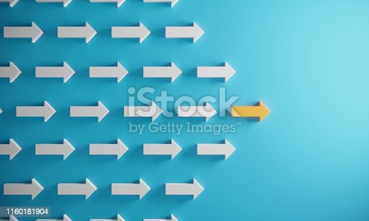 istock Leadership Concept With Arrows 1160181904