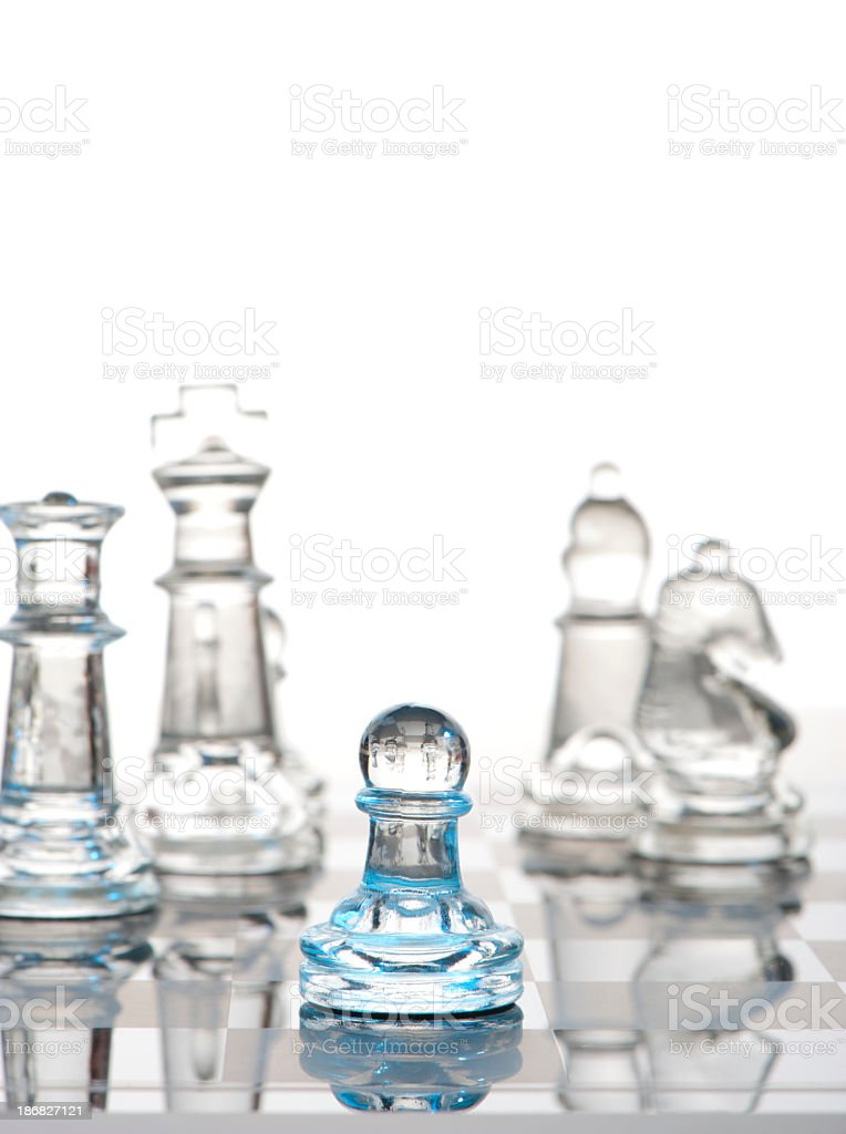 Leadership concept with Chess pieces royalty-free stock photo